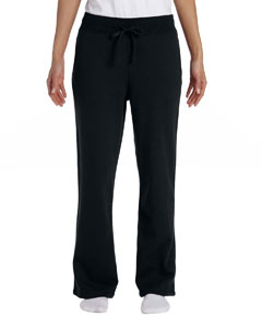Black Women's 8 oz. Heavy Blend™ 50/50 Open-Bottom Sweatpants