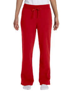 Red Women's 8 oz. Heavy Blend™ 50/50 Open-Bottom Sweatpants