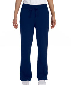 Navy Women's 8 oz. Heavy Blend™ 50/50 Open-Bottom Sweatpants