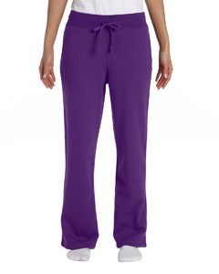 Purple Women's 8 oz. Heavy Blend™ 50/50 Open-Bottom Sweatpants