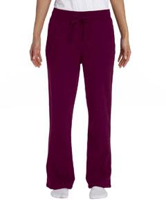 Maroon Women's 8 oz. Heavy Blend™ 50/50 Open-Bottom Sweatpants