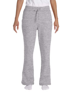 Sport Grey Women's 8 oz. Heavy Blend™ 50/50 Open-Bottom Sweatpants