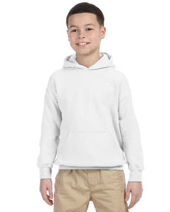 White Heavy Blend™ Youth 8 oz., 50/50 Hood