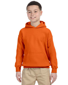Orange Heavy Blend™ Youth 8 oz., 50/50 Hood