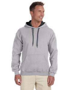 Sport Grey/black Heavy Blend™ 8 oz., 50/50 Contrast Hood
