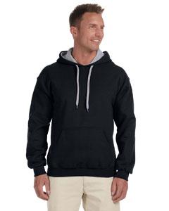 Black/sport Grey Heavy Blend™ 8 oz., 50/50 Contrast Hood