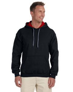 Black/red Heavy Blend™ 8 oz., 50/50 Contrast Hood