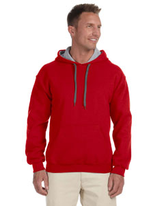 Red/sport Grey Heavy Blend™ 8 oz., 50/50 Contrast Hood