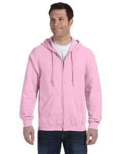Light Pink Heavy Blend™ 8 oz., 50/50 Full-Zip Hood