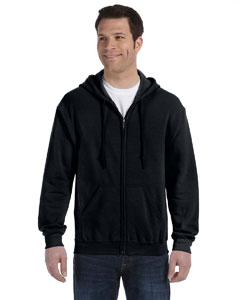 Black Heavy Blend™ 8 oz., 50/50 Full-Zip Hood
