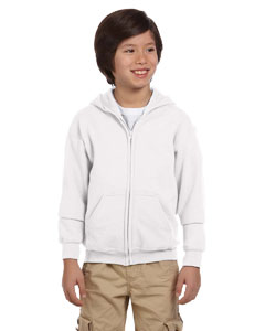 White Heavy Blend™ Youth 8 oz., 50/50 Full-Zip Hood