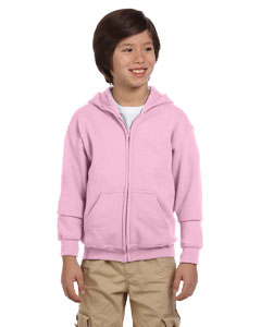 Light Pink Heavy Blend™ Youth 8 oz., 50/50 Full-Zip Hood