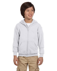 Ash Heavy Blend™ Youth 8 oz., 50/50 Full-Zip Hood