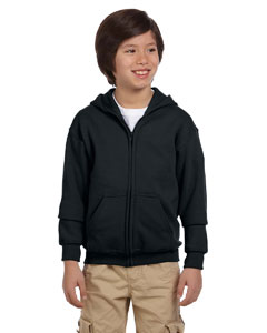 Black Heavy Blend™ Youth 8 oz., 50/50 Full-Zip Hood