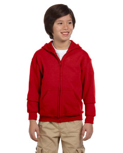 Red Heavy Blend™ Youth 8 oz., 50/50 Full-Zip Hood