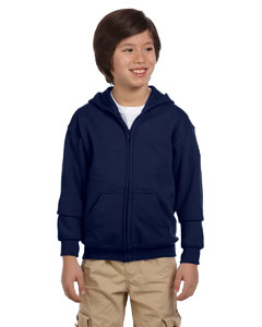 Navy Heavy Blend™ Youth 8 oz., 50/50 Full-Zip Hood