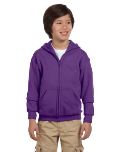 Purple Heavy Blend™ Youth 8 oz., 50/50 Full-Zip Hood