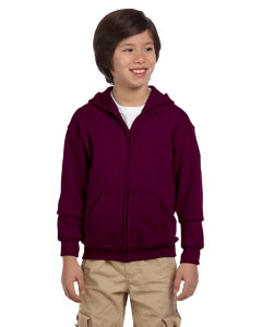 Maroon Heavy Blend™ Youth 8 oz., 50/50 Full-Zip Hood
