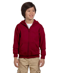 Cardinal Red Heavy Blend™ Youth 8 oz., 50/50 Full-Zip Hood