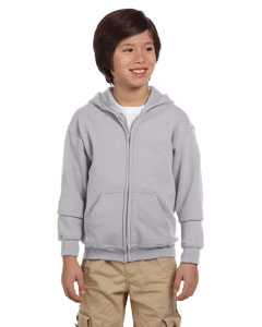 Sport Grey Heavy Blend™ Youth 8 oz., 50/50 Full-Zip Hood