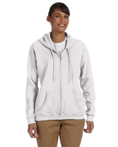 White Women's 8 oz. Heavy Blend™ 50/50 Full-Zip Hood