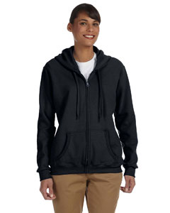 Black Women's 8 oz. Heavy Blend™ 50/50 Full-Zip Hood