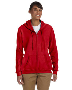 Red Women's 8 oz. Heavy Blend™ 50/50 Full-Zip Hood
