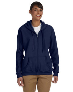 Navy Women's 8 oz. Heavy Blend™ 50/50 Full-Zip Hood