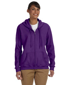Purple Women's 8 oz. Heavy Blend™ 50/50 Full-Zip Hood