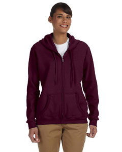 Maroon Women's 8 oz. Heavy Blend™ 50/50 Full-Zip Hood