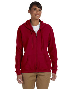 Cardinal Red Women's 8 oz. Heavy Blend™ 50/50 Full-Zip Hood