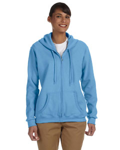 Carolina Blue Women's 8 oz. Heavy Blend™ 50/50 Full-Zip Hood