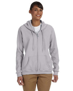 Sport Grey Women's 8 oz. Heavy Blend™ 50/50 Full-Zip Hood