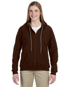 Russet 8 oz. Heavy Blend™ Vintage Missy Fit Full-Zip Hood