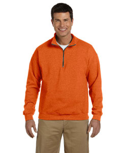 Orange Heavy Blend™ 8 oz. Vintage Classic Quarter-Zip Cadet Collar Sweatshirt