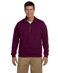 Maroon Heavy Blend™ 8 oz. Vintage Classic Quarter-Zip Cadet Collar Sweatshirt