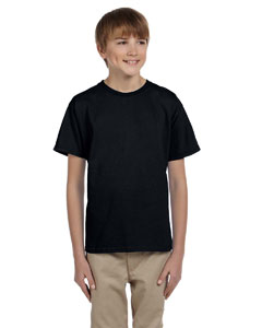 Black Ultra Cotton® Youth 6 oz. T-Shirt
