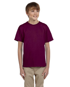 Maroon Ultra Cotton® Youth 6 oz. T-Shirt