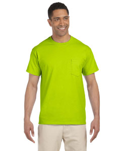 Safety Green Ultra Cotton® 6 oz. Pocket T-Shirt