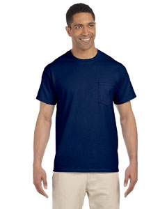 Navy Ultra Cotton® 6 oz. Pocket T-Shirt