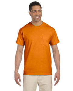 Safety Orange Ultra Cotton® 6 oz. Pocket T-Shirt