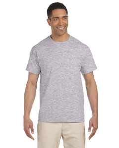 Sport Grey Ultra Cotton® 6 oz. Pocket T-Shirt