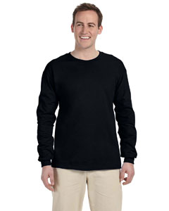Black Ultra Cotton® 6 oz. Long-Sleeve T-Shirt