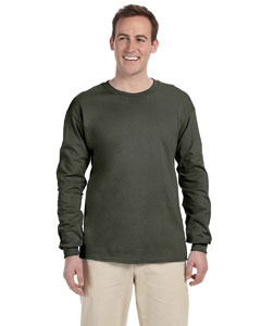 Military Green Ultra Cotton® 6 oz. Long-Sleeve T-Shirt