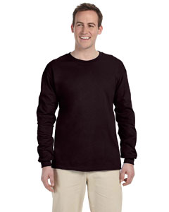 Dark Chocolate Ultra Cotton® 6 oz. Long-Sleeve T-Shirt