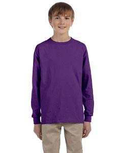 Purple Ultra Cotton® Youth 6 oz. Long-Sleeve T-Shirt