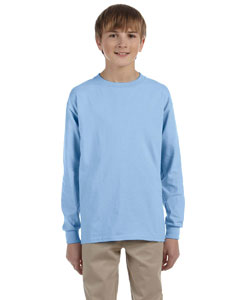 Light Blue Ultra Cotton® Youth 6 oz. Long-Sleeve T-Shirt
