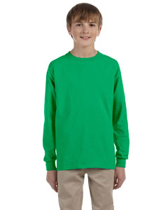 Irish Green Ultra Cotton® Youth 6 oz. Long-Sleeve T-Shirt