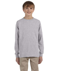 Sport Grey Ultra Cotton® Youth 6 oz. Long-Sleeve T-Shirt