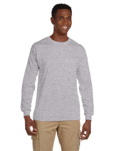 Sport Grey Ultra Cotton® 6 oz. Long-Sleeve Pocket T-Shirt